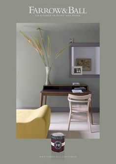 pigeon farrow and ball Farrow Ball, Farrow And Ball Paint, Colorful Interior Design, Interior Styling, Grey Furniture, Wallpaper Panels, Grey Paint, Wall Colors, Paint Colours