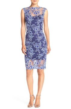 Tadashi Shoji Embroidered Mesh Sheath Dress available at #Nordstrom