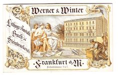 Werner & Winter German lithographers advertising trade card