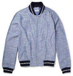 Gant Rugger's Chambray Varsity Jacket. The chambray makes it very Spring-able.