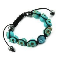 Tibetan Blue Skulls & Pave Bead Macrame Bracelet this is different, I like different. $17