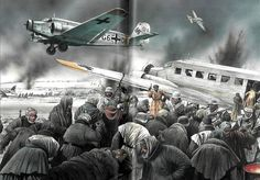 Euro fascism. Junkers 52 3m,  last planes to leave Stalingrad. Fuck off Europe, with love from Russia.