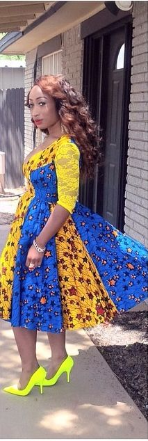 African print dresses can be styled in a plethora of ways. Ankara, Kente, & Dashiki are well known prints. See over 50 of the best African print dresses. African Dresses For Women, African Print Dresses, African Print Fashion, Africa Fashion, African Attire, African Wear, African Women, Ghana Fashion, Nigerian Fashion