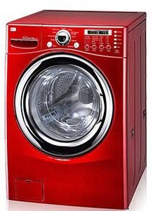 Front Load Compact Washer/Dryer Combo ... in RED! :)