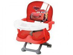 Cadeira de Papinha Dican Disney Carros - 3 Níveis de Altura Regulável p/Crianças até 15kg
