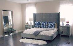 My master bedroom Home Bedroom, Master Bedroom, Bedrooms, Interior Decorating, Interior Design, Take A Nap, My Room, Shades Of Blue, House Design