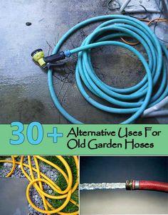 30+ Alternative Uses For Old Garden Hoses http://www.homeandgardeningideas.com/30-alternative-uses-for-old-garden-hoses/