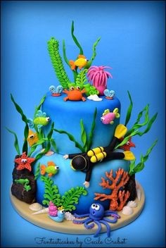 Under the Sea Cake - Cake by Cecile Crabot - CakesDecor
