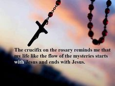Photo: The crucifix on the rosary reminds me that...