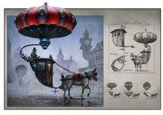 Balloon Carriage - Weatherford  #Steampunk #Conceptart