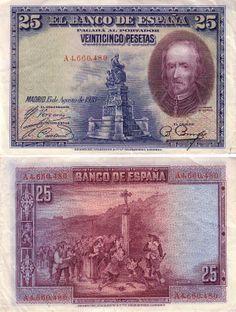 Moneda española   pick 74a el banco de España 25 pesetas 15 august 1928 issue obverse