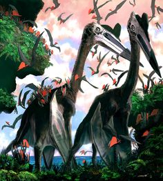 fuzzy #quetzalcoatlus - Sammy Hall #pterosaur