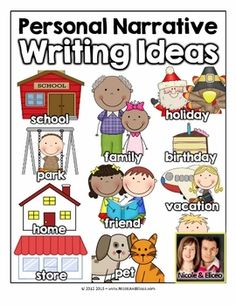 Personal Narrative Toolkit (English & Spanish) w/ writing topics, anchor chart, writing checklist, brainstorming pages, graphic organizers & thematic writing paper! Kindergarten Anchor Charts, Writing Anchor Charts, Kindergarten Writing, Teaching Writing, Kindergarten Activities, Writing Topics, Writing Lessons, Writing Ideas, Narrative Story
