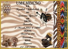 Traditional ceremony for Mr & Mrs Hadebe Date : 14 December 2019 Venue : Hadebe house hold ihlokozi Time : Zulu Traditional Wedding, Traditional Wedding Invitations, Wedding Invitation Wording, Invitation Cards, Invites, Invitation Templates, South African Weddings, Wedding Ceremony, Wedding Dress