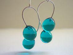 Glass Drop Earrings: Hand Made Blown Glass Jewelry | Verre By Julie Burton