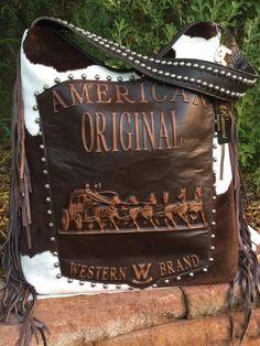 Raviani Western Leather Handbag Purse w/ Fringe American Original Velvet Cowhide #Raviani #ShoulderBag