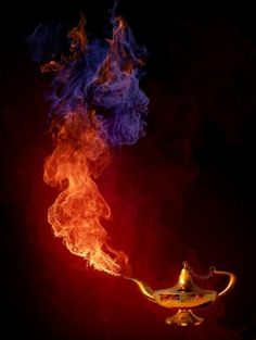 STORY STARTER: Although the genie lamp brought her nothing but trouble, ________knew she had to make one more wish. Picture Writing Prompts, Writing Pictures, Picture Prompt, Story Inspiration, Writing Inspiration, Genie Lamp, Cool Fire, Story Starters, Fire Art