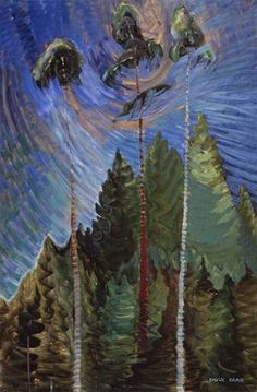 Emily carr a rushing sea of undergrowth, 1935 oil on canvas. collection of the vancouver art gallery, emily carr trust Tom Thomson, Canadian Painters, Canadian Artists, Henri Matisse, History For Kids, Art History, Emily Carr Paintings, British Columbia, Vancouver Art Gallery