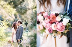 Raspberry and Navy Wedding