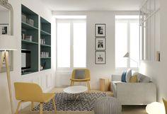 un int rieur moderne dans d 39 anciens bureaux bureaux ps et marie claire. Black Bedroom Furniture Sets. Home Design Ideas