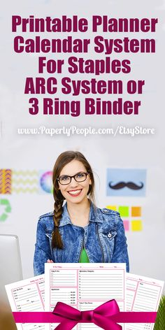 Printable Planner Calendar System For Staples ARC System or 3 Ring Binder | I have set up this collection of printable calendar pages for DIY printing for either Staples ARC notebooks or 3 ring binders.