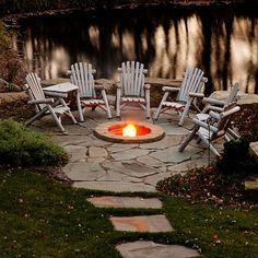 landscaping with fire pit ideas | Landscape rustic fire pit Design Ideas, Pictures, Remodel and Decor