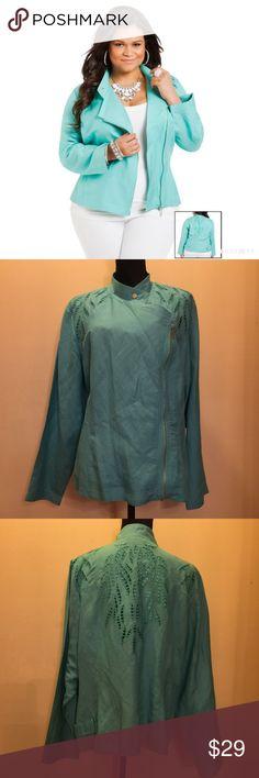 Ashley Stewart Linen Jacket size 18 EUC. Beautiful Linen jacket with cutout detail. Ashley Stewart Jackets & Coats