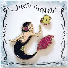 Repost @lulemee_art  First Mer-Mates sets are available now  Our mer-mates series is an ongoing collaboration between the amazing @ohplesiosaur and me and we will be releasing new sets of merms with their special animal friend throughout the year!!! In the focus of our designs is the close relationship of the mermie with her friend which is reflected in their pose but also in the details of both.  Black merm and yellow dumbo are available in my shop.  Lovely aqua/purple color combo is…