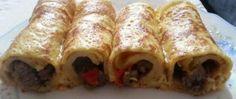 Recept Slané palačinky, plněné masem a zeleninou Brunch, Kefir, Lasagna, Nutella, Ham, Tacos, Cooking Recipes, Chicken, Ethnic Recipes