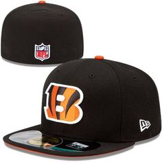 faa5d777d Mens Cincinnati Bengals New Era Black On-Field Player Sideline 59FIFTY  Fitted Hat