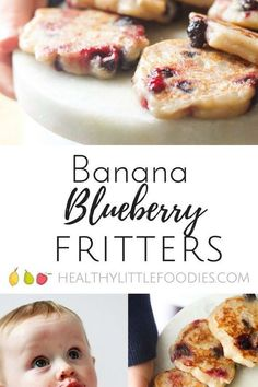 BANANA BLUEBERRY FRITTERS Dairy Free Recipes For Kids, Fruit Recipes For Kids, Baby Food Recipes, Snack Recipes, Cooking Recipes, Toddler Recipes, Healthy Recipes, Healthy Sweet Snacks, Healthy Toddler Meals