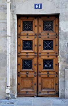 In Paris, doors are one of the beautiful things to stop and look.