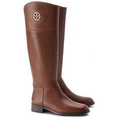 Tory Burch Junction Riding Boots ($339) ❤ liked on Polyvore featuring shoes, boots, riding boots, cutout boots, shiny boots, leather equestrian boots and cut out leather boots