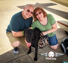 Here is Steve and Pam of Pilot.dog on a recent flight with Vixen. Join the team and play a role in saving the lives of dogs one flight at a time. Go to http://ift.tt/2bjImHf #pilotdog
