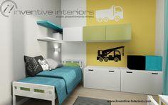 Projekt pokoju dziecka Inventive Interiors - kolorowy pokój chłopca