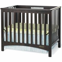 Child Craft London Euro Mini 2 in 1 Convertible Crib in Jamocha