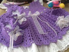Vestido, zapatos diadema todo a crochet, sobre pedido inbox Crochet Necklace, How To Make, Fashion, Vestidos, Head Bands, Zapatos, Moda, Crochet Collar, La Mode
