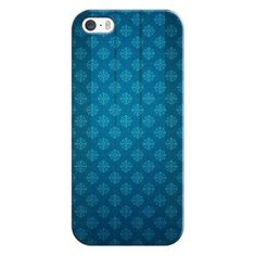 iPhone 5S, 5 Glass On A Pattern Blue Case