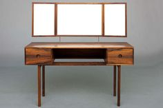 Dressing Table by Kai Kristiansen for Aksel Kjersgaard / Illums Bolighus | From a unique collection of antique and modern vanities at https://www.1stdibs.com/furniture/tables/vanities/
