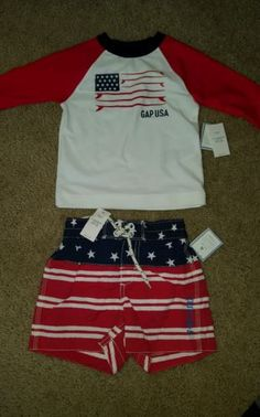 Baby Boys Clothing And Accessories: Nwt Baby Gap Boys Swimsuit Set 12-18 M Rash Guard Bathing Suit -> BUY IT NOW ONLY: $34 on eBay!