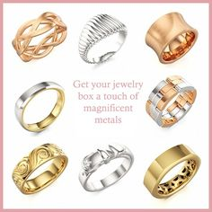 White Gold, Yellow Gold, Rose Gold Rings at Colors of Eden #wedding #ring