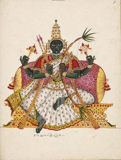 Rajarajeswari, XIX century company painting