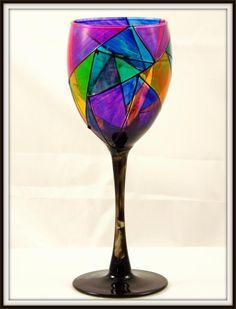 images of elegant handpainted wine glasses - Google Search Wine Painting, Hand Painted Wine Glasses, Wine Bottle Crafts, Bottles, Google Search, Elegant, Tableware, Image, Glass