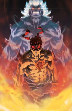 Street Fighter - Evil Ryu and the Oni by Jeffrey Cruz