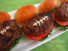 Hungry Happenings: Super Bowl Party Foods - Football Shaped Burger Recipe and a Giveaway
