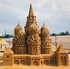 Castles in the Sand: 11 Inspirations for Beachside Builders - - These monumental works of art demonstrate that beautiful architecture can be created in even the most ephemeral mediums. Snow Sculptures, Metal Sculptures, Wood Sculpture, Bronze Sculpture, St Basils Cathedral, Geometric Sculpture, Abstract Sculpture, St Basil's, Famous Castles