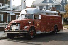 Hammonton, NJ FD 1951 GMC/Approved Body Heavy Rescue Squad.