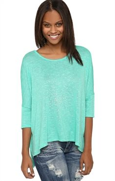 Deb Shops #Mint Oversized #Sweater Poncho with Stone Front $13.93