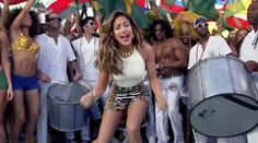Jennifer Lopez only had a brief part in the video...