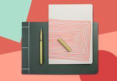 Hay Notebooks and Ystudio Brass pen